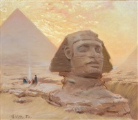 sfinxen vid gizeh (the great sphinx of giza) by georg von rosen