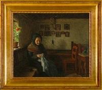 gammel kone i sin stue by valdemar holger v. rasmussen magaard