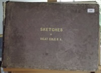 sketches by vicat cole r.a. (album w/29 works) by george vicat cole