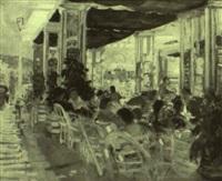 la terrasse du café by cesare bacchi