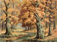 autumn landscape by edward r. sitzman