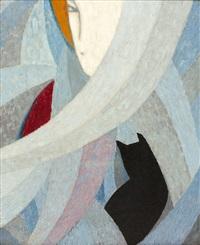 la femme au chat by jean crotti