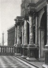 venedig. blick von der loggetta di san marco auf piazzetta by george von hoesslin