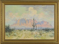 superstition mountain, arizona by elmer l. boone