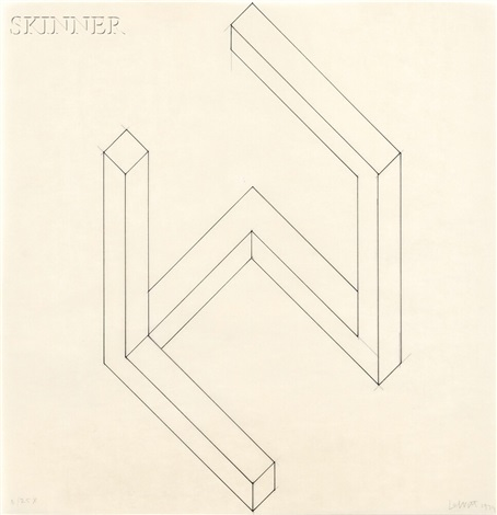 study for incomplete open cube 625 by sol lewitt