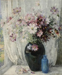 still life with flowers by nina hill