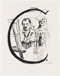 das abc lithographien (portfolio of 25) by lovis corinth