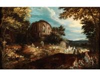 landschaft mit antikem tempel und figuren by david vinckboons