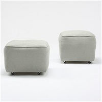 pair of ottomans from frey house i, palm springs by albert frey