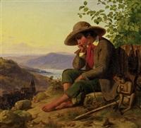 savoyardenknabe mit äffchen by leonhard pilliet
