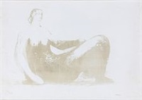 reclining woman by henry moore