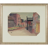 alley and telephone polls by samuel huber