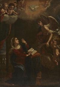 maria bebådelse by lorenzo lippi