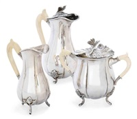 coffee set (set of3) by d. van outvorst & zoon