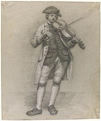 violinist with a hat by jordanus hoorn