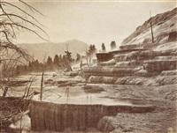 mammoth hot springs by john k. hillers
