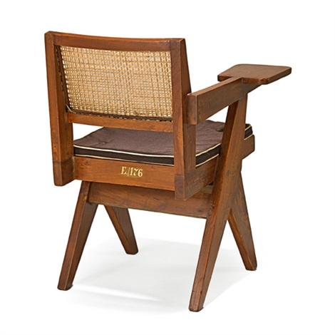 writing chair from chandigarh by pierre jeanneret