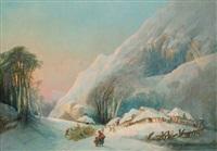 el invierno (paisaje nevado) by eugenio lucas velázquez