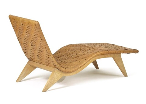 chaise longue the covering by ozark mountain basket weavers by edward durell stone