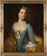 portrait einer dame mit ohr- und blumenschmuck by anna rosina lisiewski