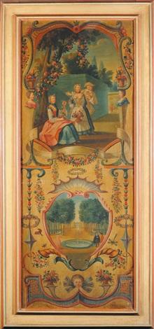 senza titolo scenette e festoni 6 works by italian school piedmont 19