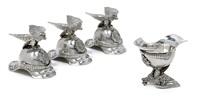 berliner schnapsbecher in form von preussischen garde du corps helmen (set of 4) by j.g.w. heinicke (co.)