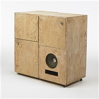 stereo cabinet by albert frey