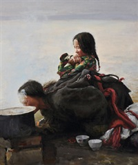 藏女 (the tibetan women) by xu weixin
