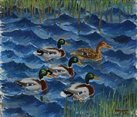 ducks by christen roesgaard
