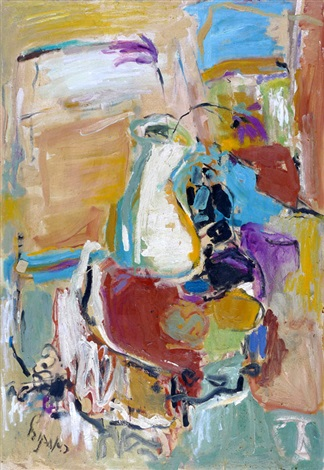 vase with flower by rachel aronovitz