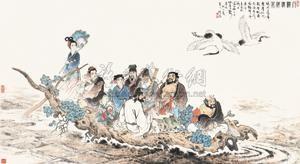 八仙渡海 figure by gu bingxin