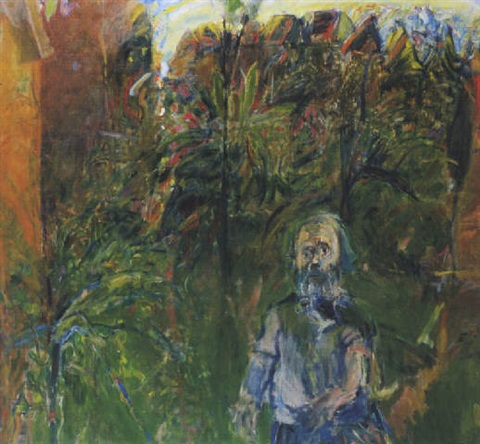 self portrait of the gardener in the little sparrow garden erskineville by kevin leslie connor