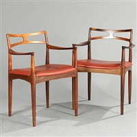 brazilian armchairs (model 94) (pair) by johannes andersen