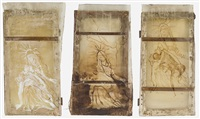 piëta (triptych) by thomas lange