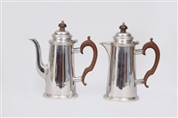 coffee and mocha pot (pair) by atkin brothers