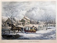 american farm scenes. no. 4 (after f.f. palmer) by nathaniel currier