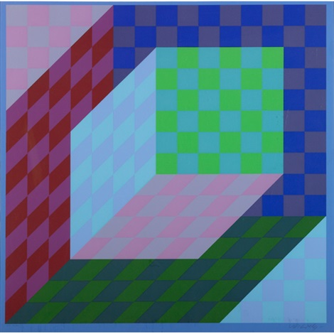 untitled 2 works by victor vasarely