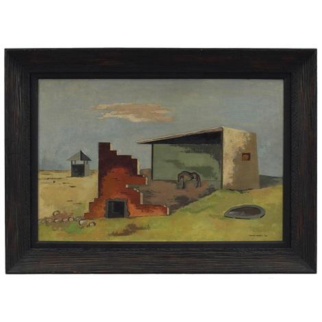 farm scene by herman maril