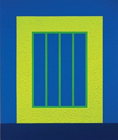 yellow prison by peter halley