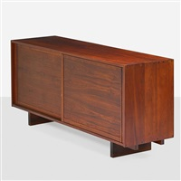 unusual room divider/cabinet by george nakashima
