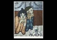 larlequin et sa compagne by pablo picasso
