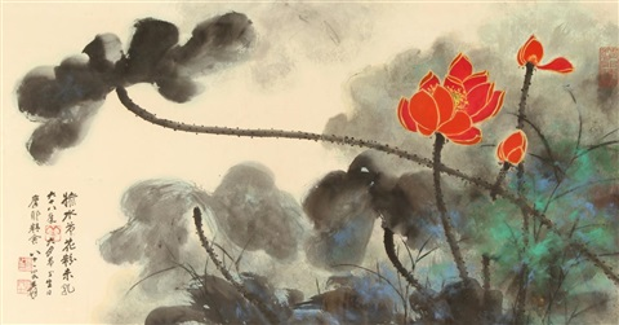 lotus by zhang daqian