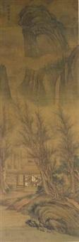 reading yi jing on an autumn night by liu du