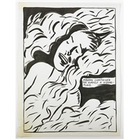 untitled (having contrived for himself a hiding-place.) by raymond pettibon