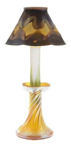 favrile candlestick lamp by louis comfort tiffany