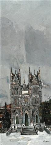 西什库教堂之冬 by bai yuping