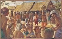 market scene, bali by abdul aziz