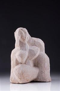 sitzender weiblicher akt by frank maasdorf
