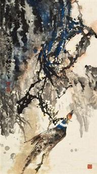 野趣 立轴 设色纸本 by lin jinding