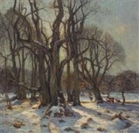 rehe in winterlandschaft by martin s. rasmussen